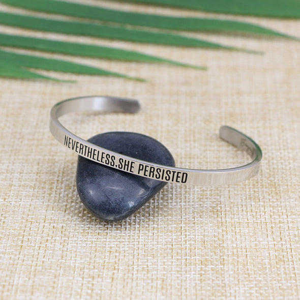 Nevertheless She Persisted Mantra Bangle