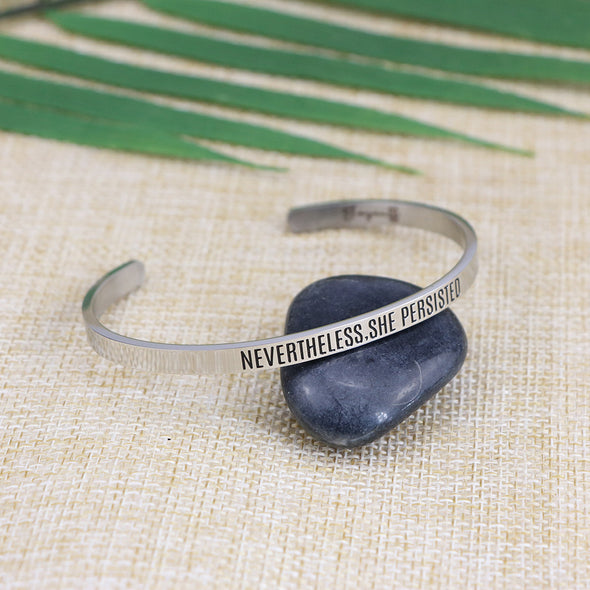 Nevertheless She Persisted Mantra Bracelets