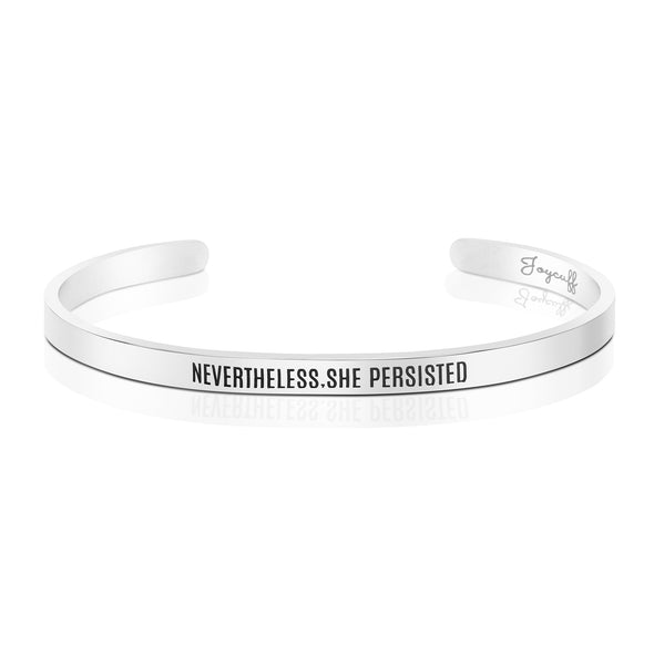 Nevertheless She Persisted Mantra Bracelet
