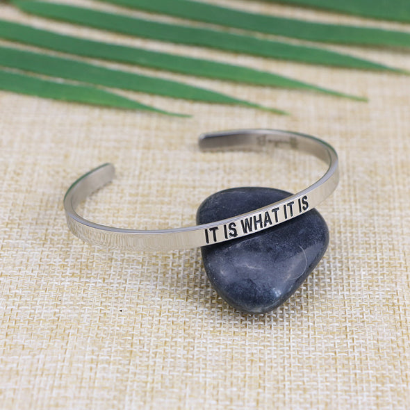 It is What It is Mantra Bracelets
