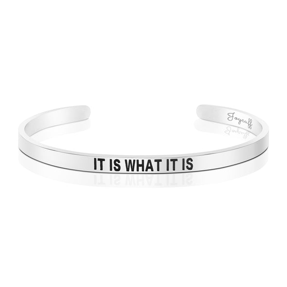 It is What It is Mantra Bracelet