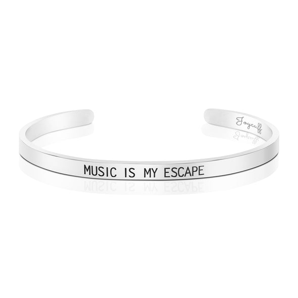 Music is My Escape Mantra Bracelet