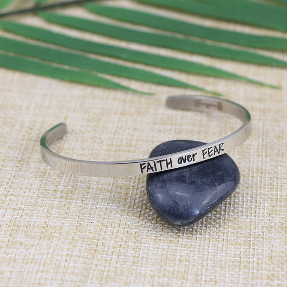 Faith Over Fear Mantra Bracelet