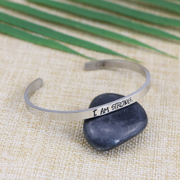 I am Strong Mantra Bangle
