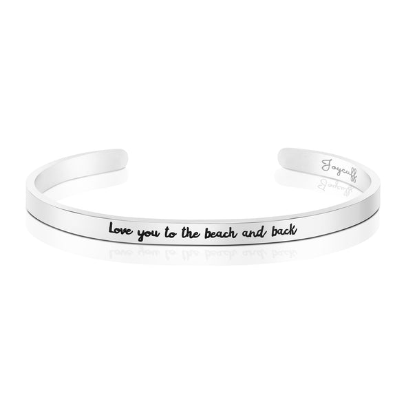 Love You to the Beach and Back Mantra Bracelet