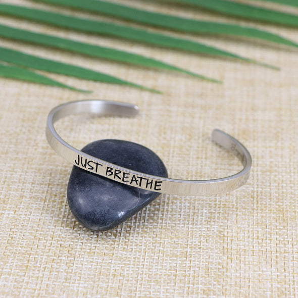 Just Breathe Mantra Bangle