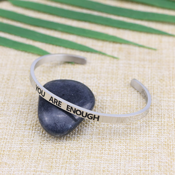 You are Enough Mantra Cuff
