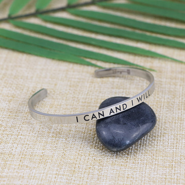 I Can and I Will Mantra Bracelets