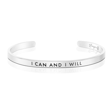 I Can and I Will Mantra Bracelet