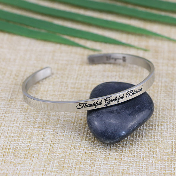 Thankful Grateful Blessed Mantra Bangle