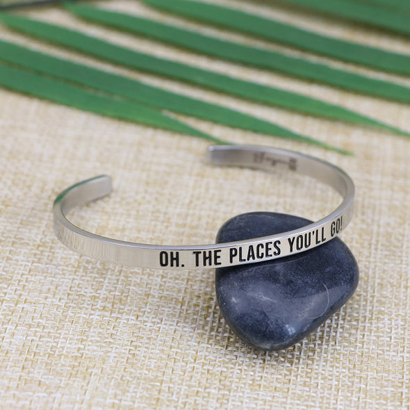 Oh The Places You'll Go Mantra Jewelry