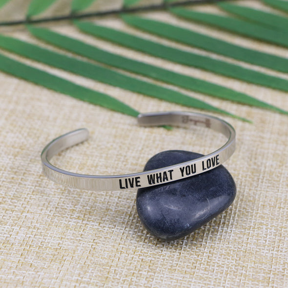 Live What You Love Mantra Bracelets