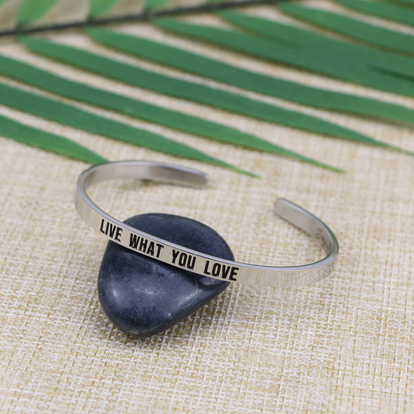 Live What You Love Mantra Bangle