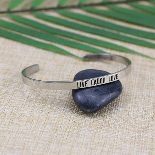 Live Laugh Love Mantra Bangle