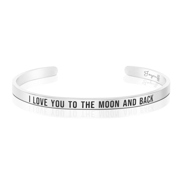 I Love You To The Moon And Back Mantra Bracelet