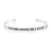 Everything Happens for A Reason Mantra Bracelet