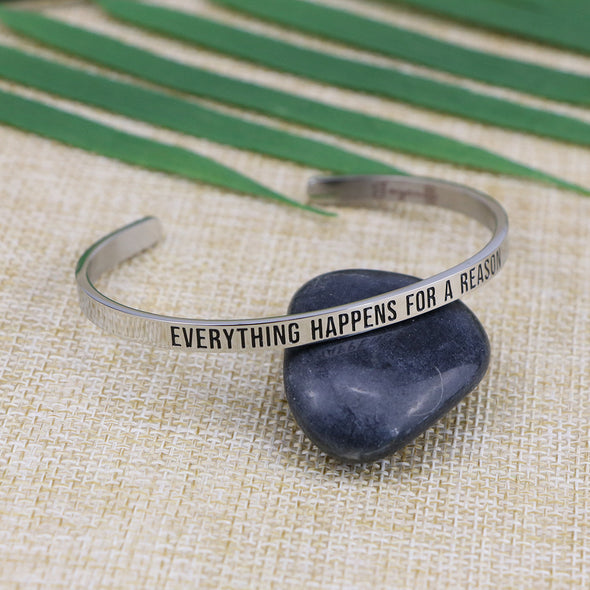 Everything Happens for A Reason Mantra Bracelets