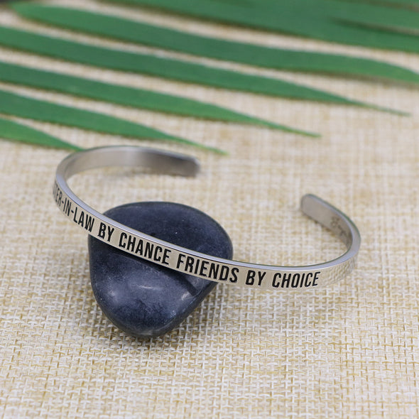 Sister-in-law By Chance Friends By Choice Mantra Jewelry
