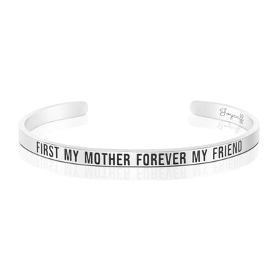 First My Mom Forever My Friend Mantra Bracelet