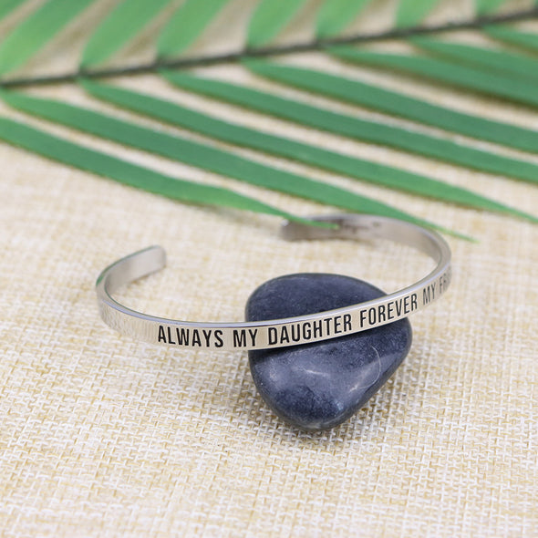 Always My Daughter Forever My Friend Mantra Jewelry