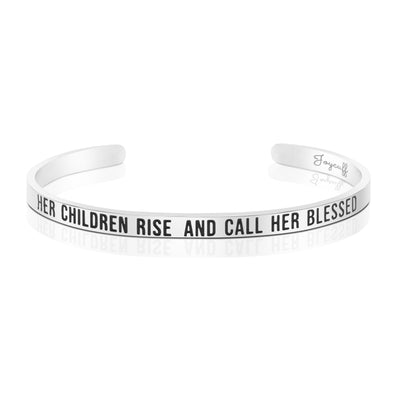 Her Children Rise Up and Call Her Blessed Mantra Bracelet