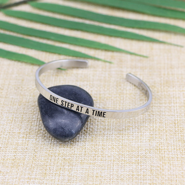 One Step At A Time Mantra Bracelet