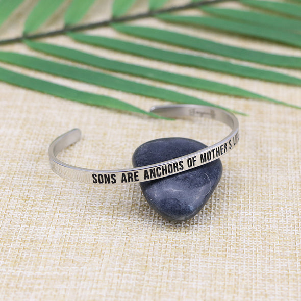 Sons are The Anchors of A Mother's Life Mantra Bangle