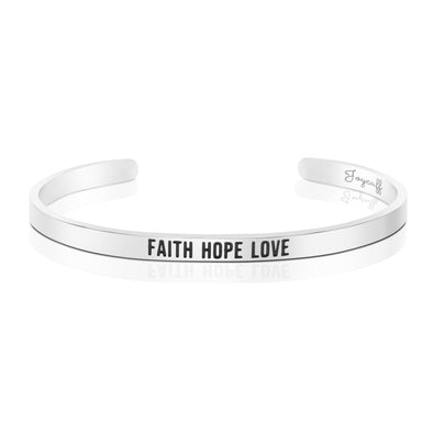 Faith Hope Love Mantra Bracelet