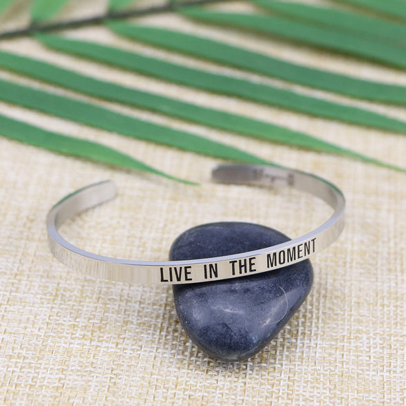 Live in The Moment Mantra Bracelets