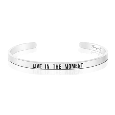 Live in The Moment Mantra Bracelet