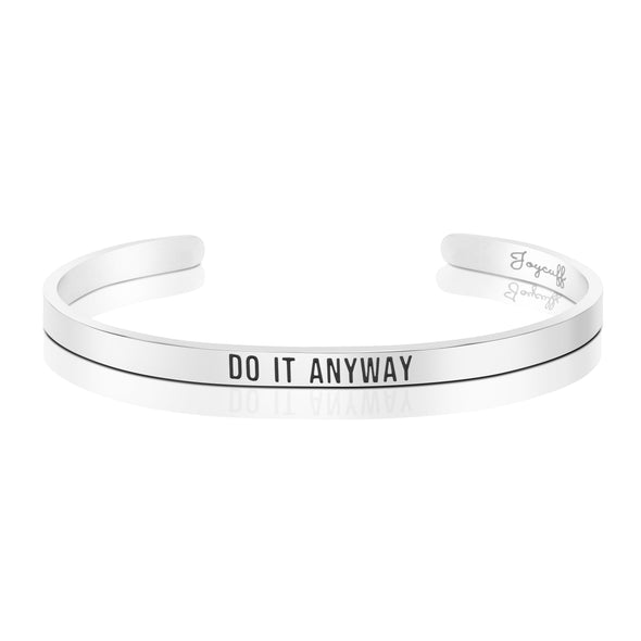 Do it Anyway Mantra Bracelet