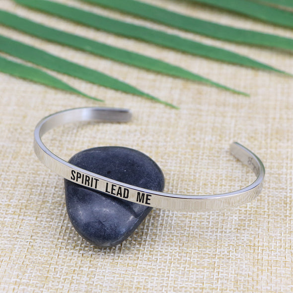 Spirit lead me Mantra Cuff