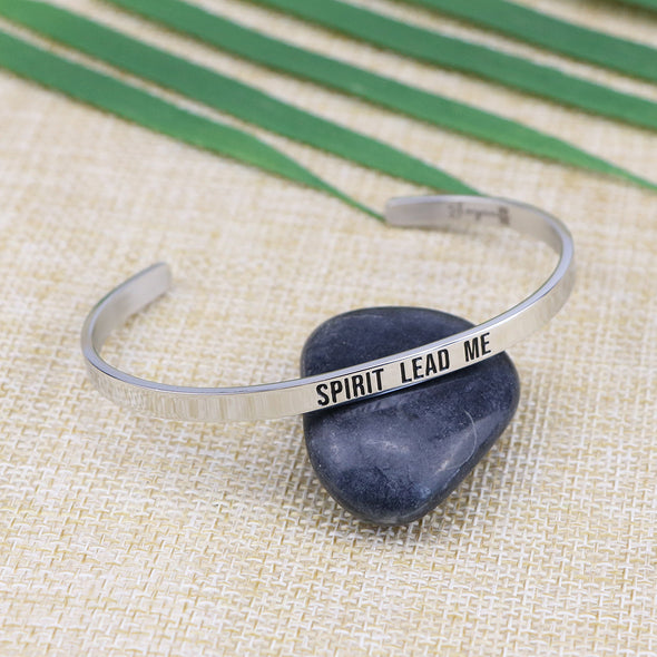 Spirit lead me Mantra Bangle