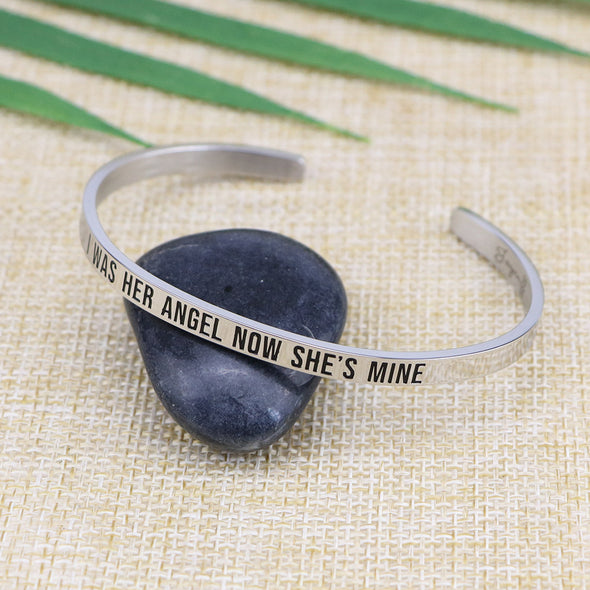 I Was Her Angel Now She's Mine Mantra Jewelry