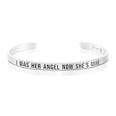 I Was Her Angel Now She's Mine Mantra Bracelet