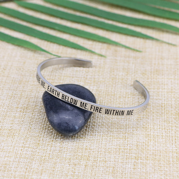 Sky Above Me Earth Below Me Fire Within Me Mantra Bangle