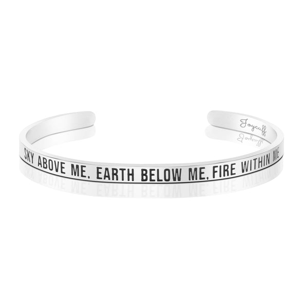 Sky Above Me Earth Below Me Fire Within Me Mantra Bracelet