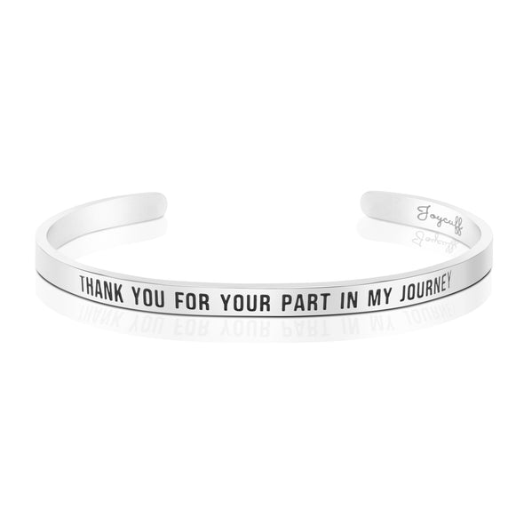 Thank You For Your Part In My Journey Mantra Bracelets