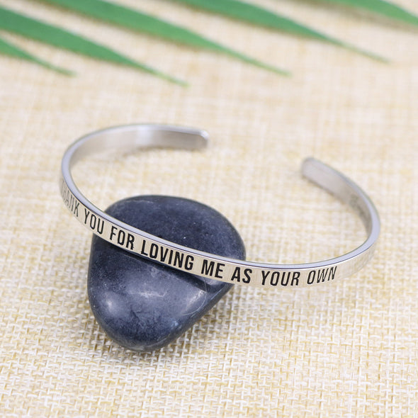 Thank You for Loving Me As Your Own Mantra Bangle