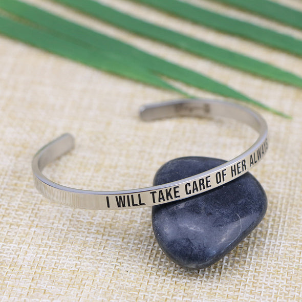 I Will Take Care of Her Always Mantra Bracelet