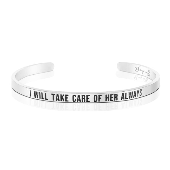 I Will Take Care of Her Always Mantra Bracelets