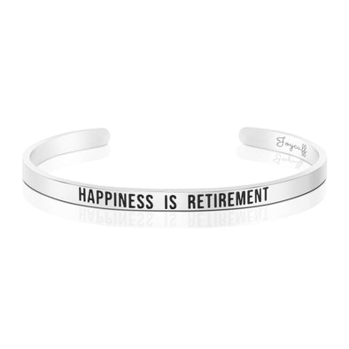 Happiness is Retirement Mantra Bracelet
