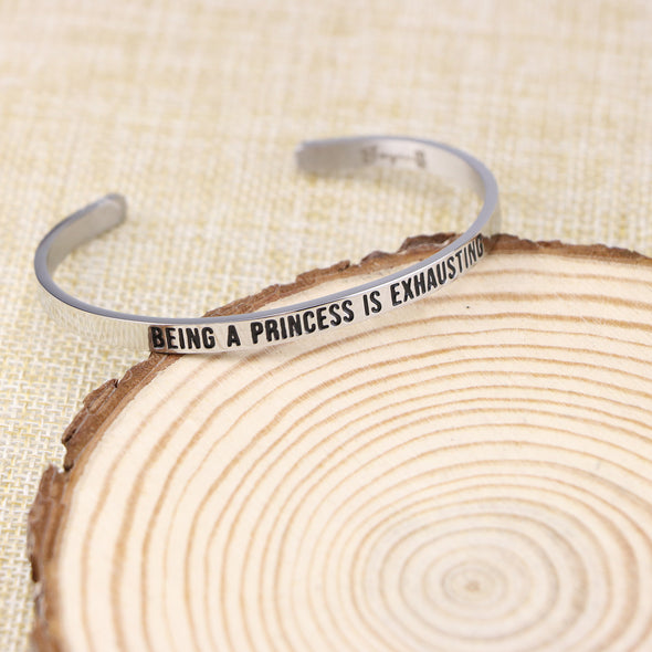 Being A Princess is Exhausting Mantra Bracelet