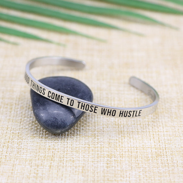 Good Things Come To Those Who Hustle Mantra Jewelry