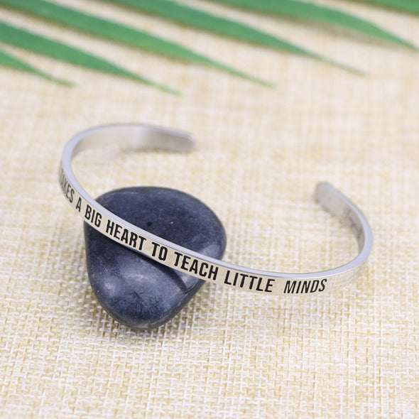 It Takes A Big Heart To Teach Little Minds Mantra Bracelets
