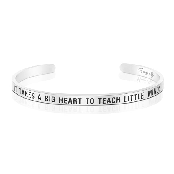 It Takes A Big Heart To Teach Little Minds Mantra Bracelet