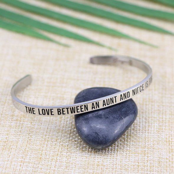 The Love Between an Aunt and Niece is Forever Mantra Bangle