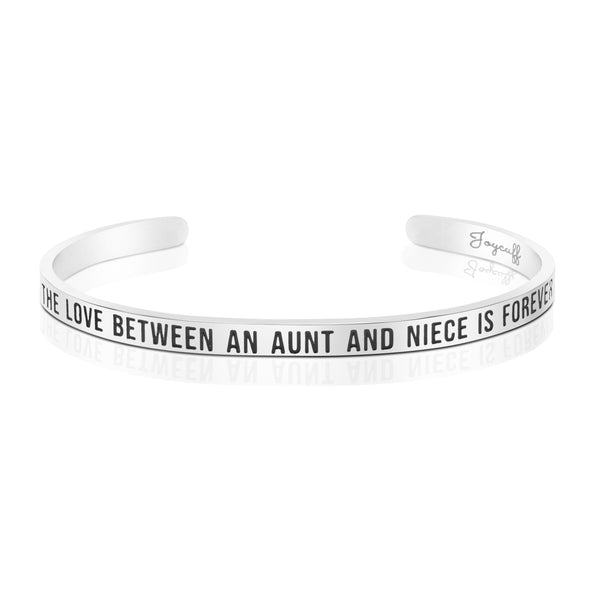 The Love Between an Aunt and Niece is Forever Mantra Bracelet