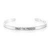 Trust The Process Mantra Bracelet Affirmation Jewelry Motivational Gift for Girl