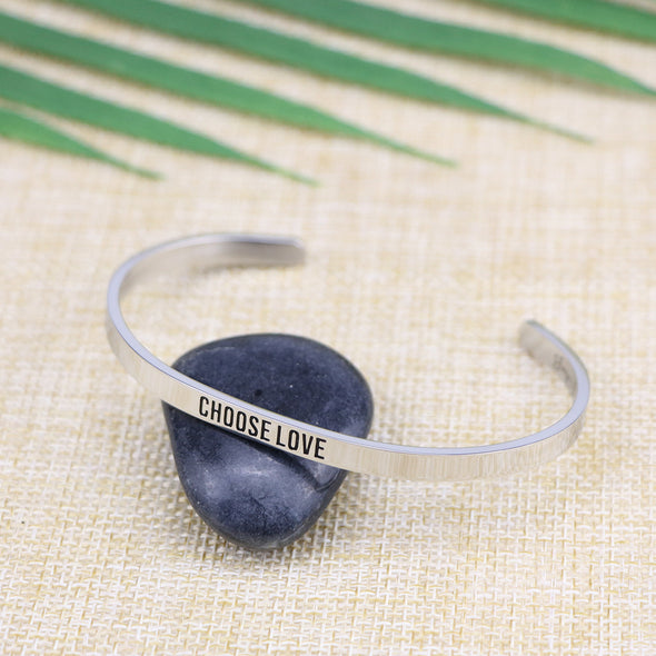 Choose Love Mantra Jewelry